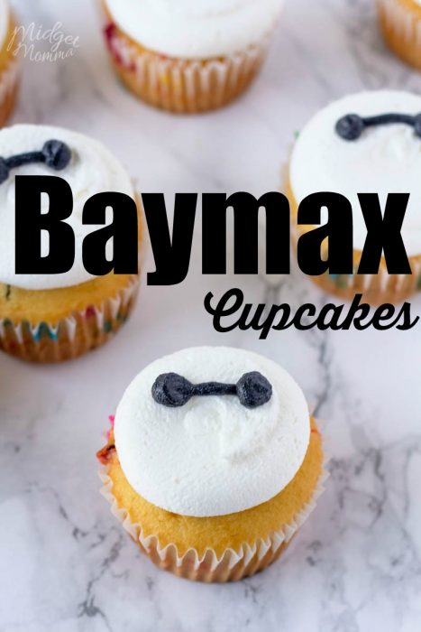 Big Hero Six Baymax Cupcakes