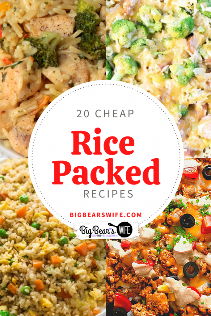 20 Cheap Rice Packed Recipes - On a budget and looking for cheap but filling meals for you and your family? I've put together a list of  20 Cheap Rice Packed Recipes that you're going to love!