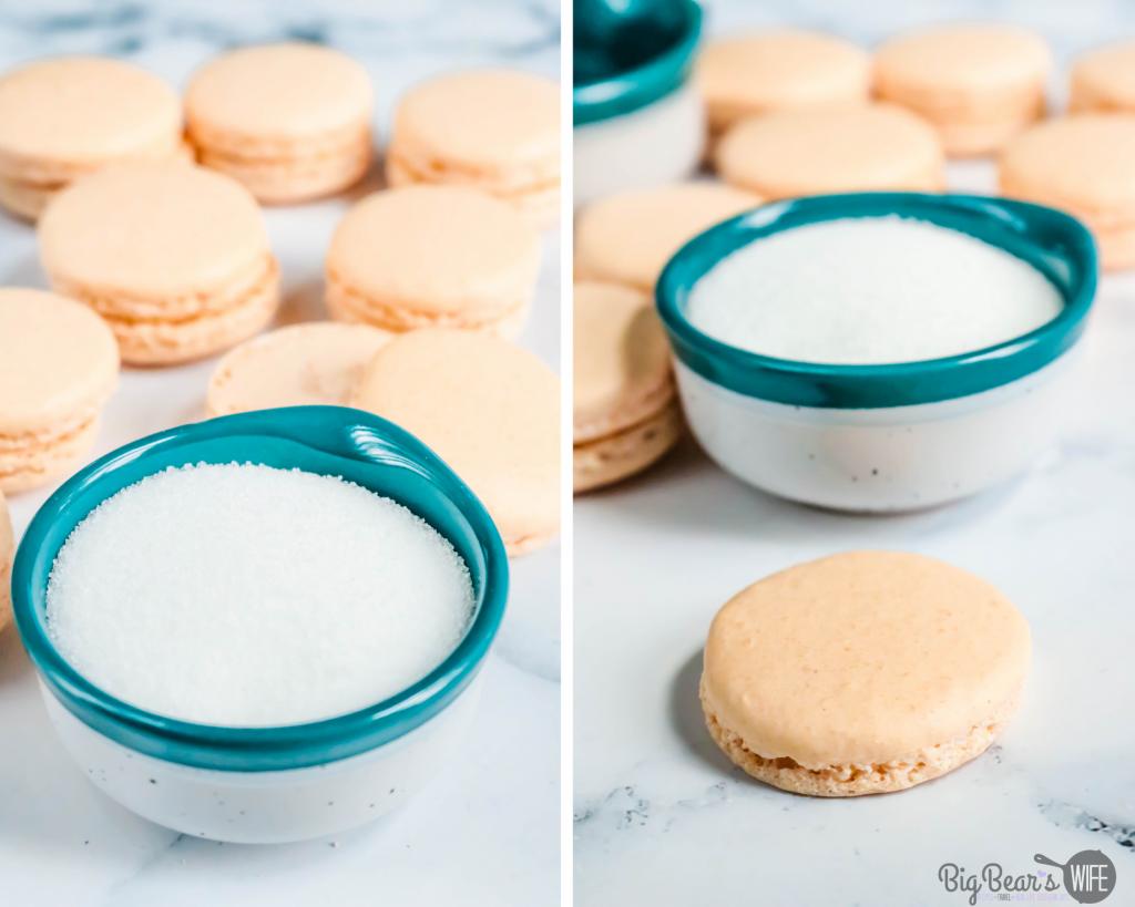 Sugar for dipping Macaron shells
