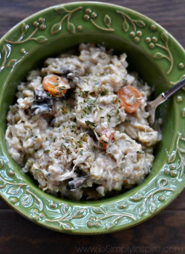 Creamy Crockpot Chicken and Brown Rice Casserole