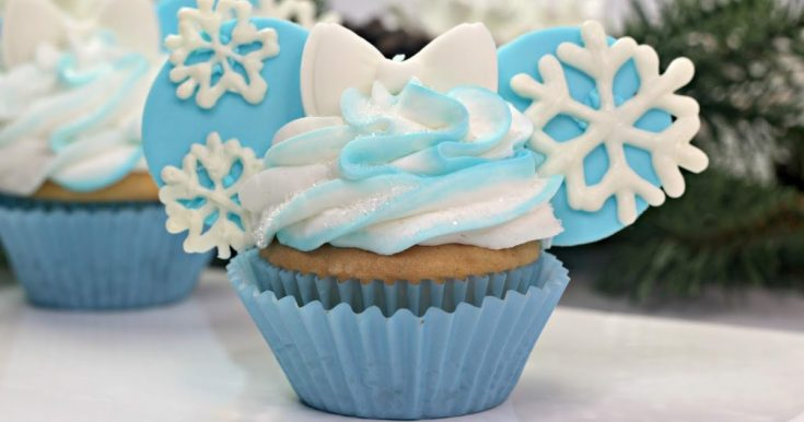 Elsa Minnie Mouse Ears Cupcake