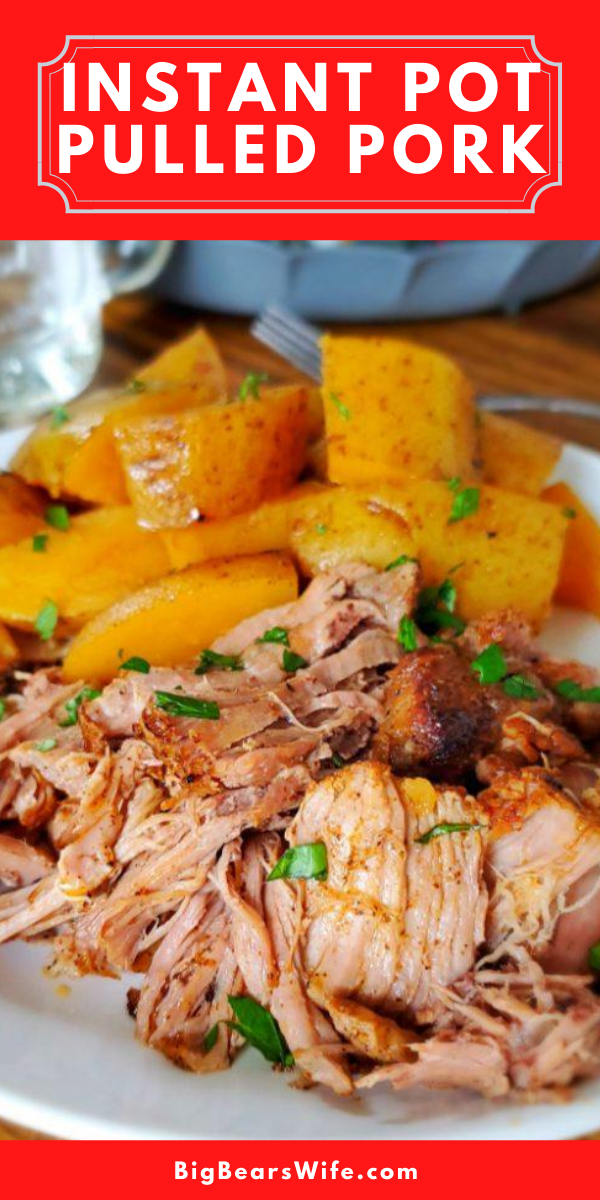 Ready for a super easy meal that's perfect for weeknights or weekends? This Instant Pot Pulled Pork & Potatoes is a family favorite and super easy to make!