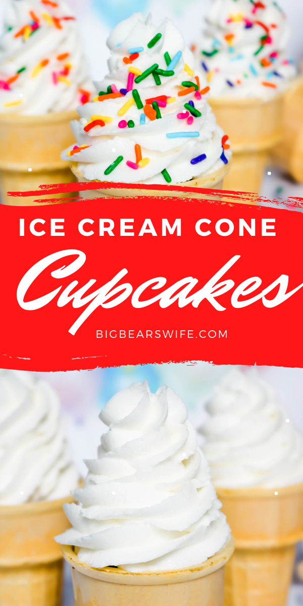 Ice Cream Cone Cupcakes - Bring on summer with these adorable Ice Cream Cone Cupcakes that looks like real ice cream cones!
