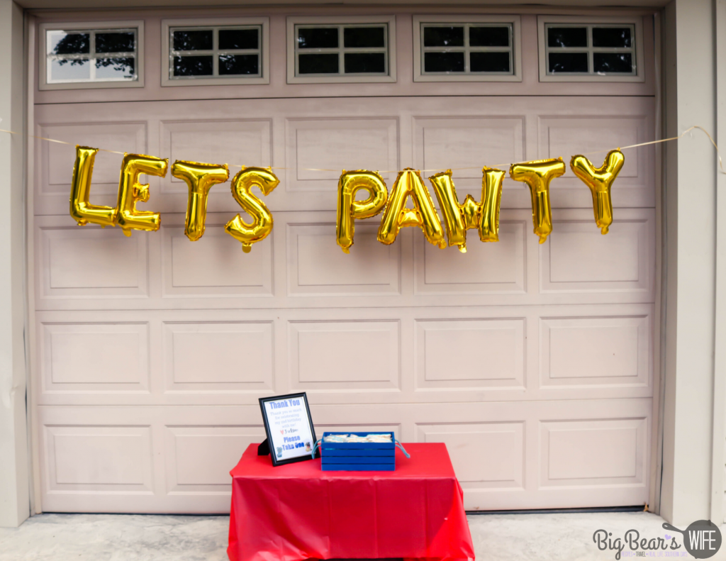 Let's Pawty Birthday Banner