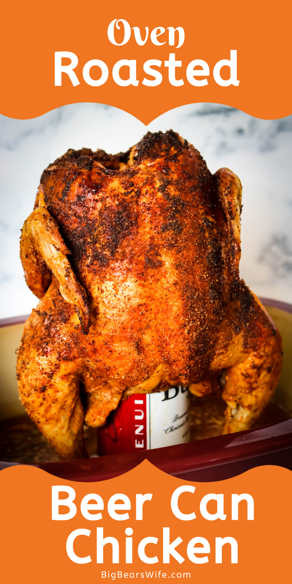 Have you ever made Beer Can Chicken? I'm going to show you exactly how to make the most amazing Beer Can Chicken, in the oven, with only 3 ingredients!  via @bigbearswife