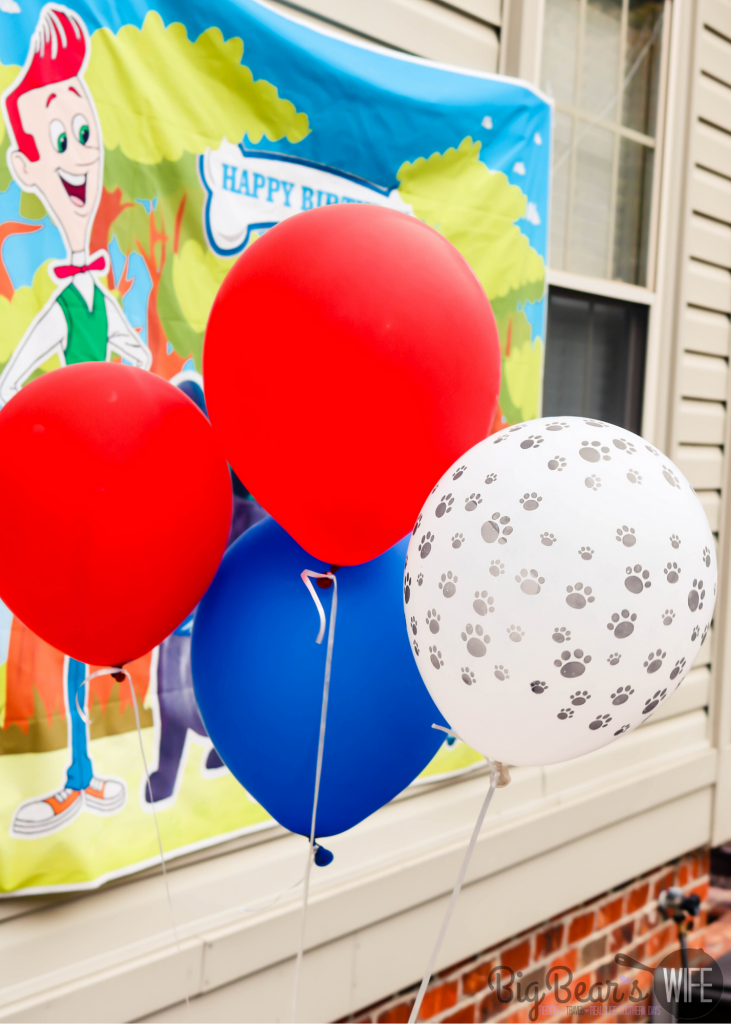 Puppy Dog Pal Red and Blue And Paw Print Balloons