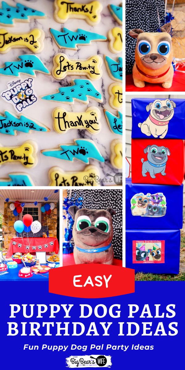 Puppy Dog Pals Birthday Ideas - Planning a Disney Inspired Puppy Dog Pals Birthday? Here are some Puppy Dog Pals Birthday Party Ideas from our son's 2nd birthday party! Pull apart bone cupcake cake, puppy pal adoption center, decorations and a BARK-B-Q B& PAW-Tato Bar! via @bigbearswife