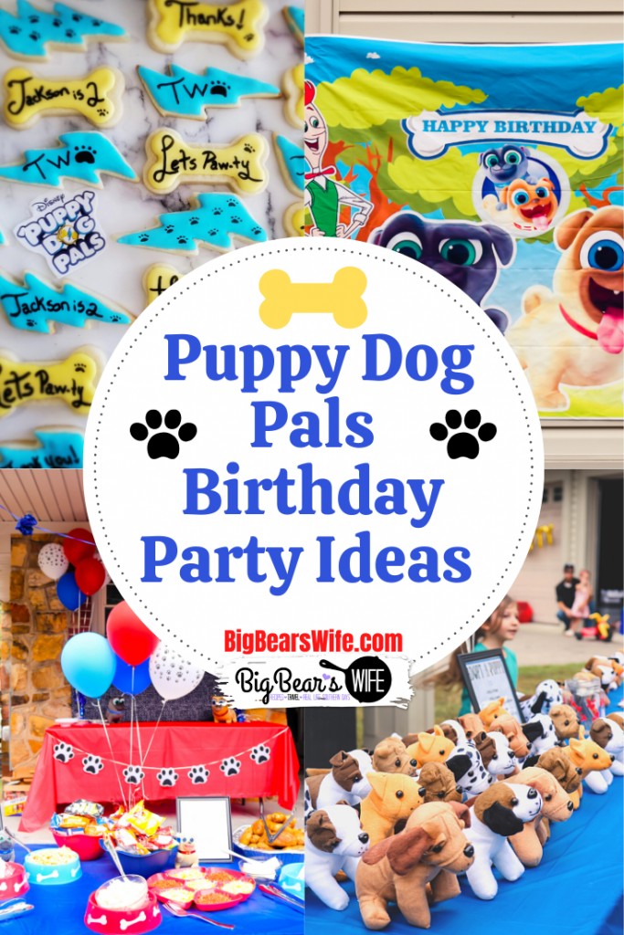 Puppy Dog Pals Birthday Ideas - Planning a Disney Inspired Puppy Dog Pals Birthday? Here are some Puppy Dog Pals Birthday Party Ideas from our son's 2nd birthday party! Pull apart bone cupcake cake, puppy pal adoption center, decorations and a BARK-B-Q B& PAW-Tato Bar!