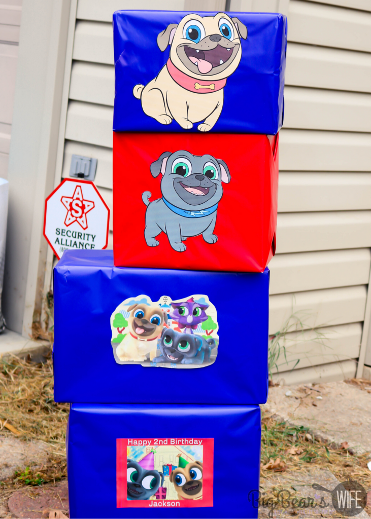 Homemade Puppy Dog Pal Box decorations
