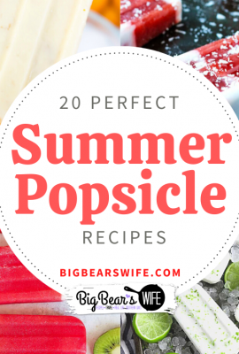 20 Perfect Summer Popsicle Recipes - Beat the summer heat with these 20 of the most perfect summer Popsicle recipes that you can make at home!