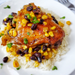 Taco Chicken Thighs with Beans and Corn
