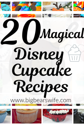 Missing the magic of Disney right now? These homemade Disney cupcakes are what you need! Here are 20 Magical Disney Cupcake Recipes to bring the magic of Disney into your kitchen!