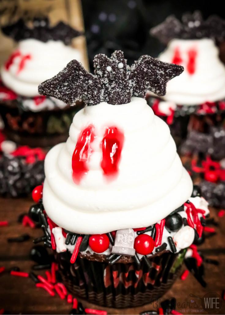 Vampire Bat Cupcakes
