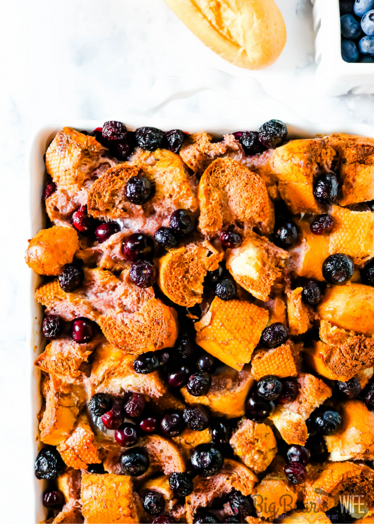 Baked Blueberry Bread Pudding