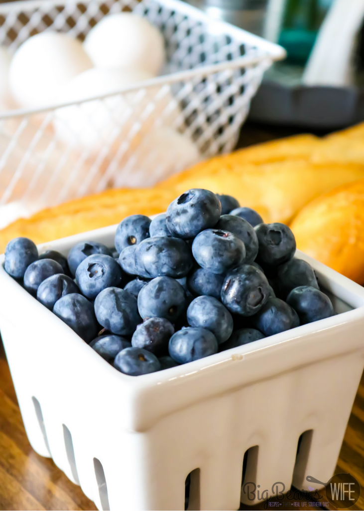 Fresh Blueberries in a white berry carton