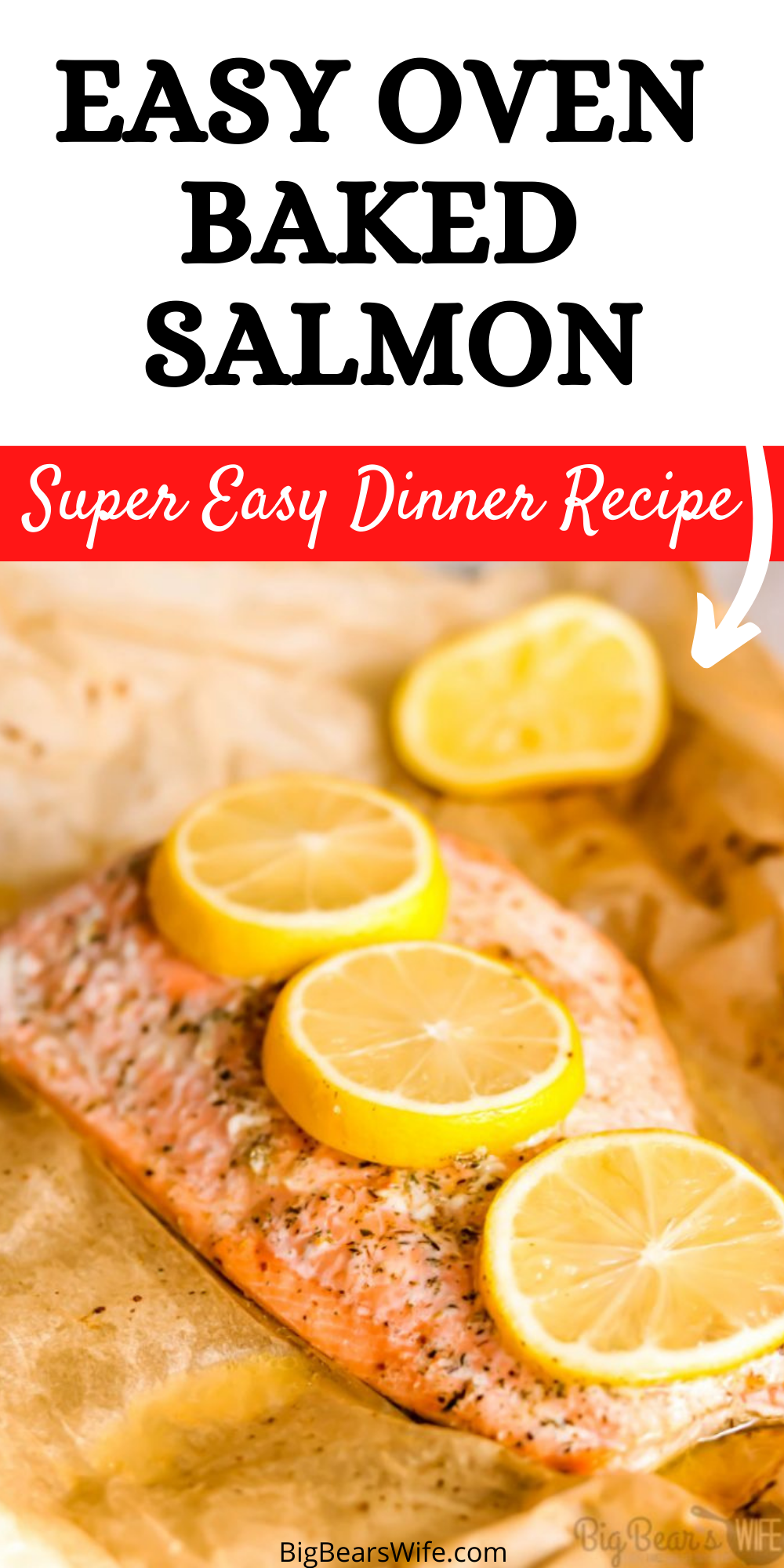 Dinner in under 30 minutes! This recipe for Easy Mediterranean Seasoned Parchment Paper Salmon is quick to make and easy to adapt for all kinds of different seasonings. via @bigbearswife