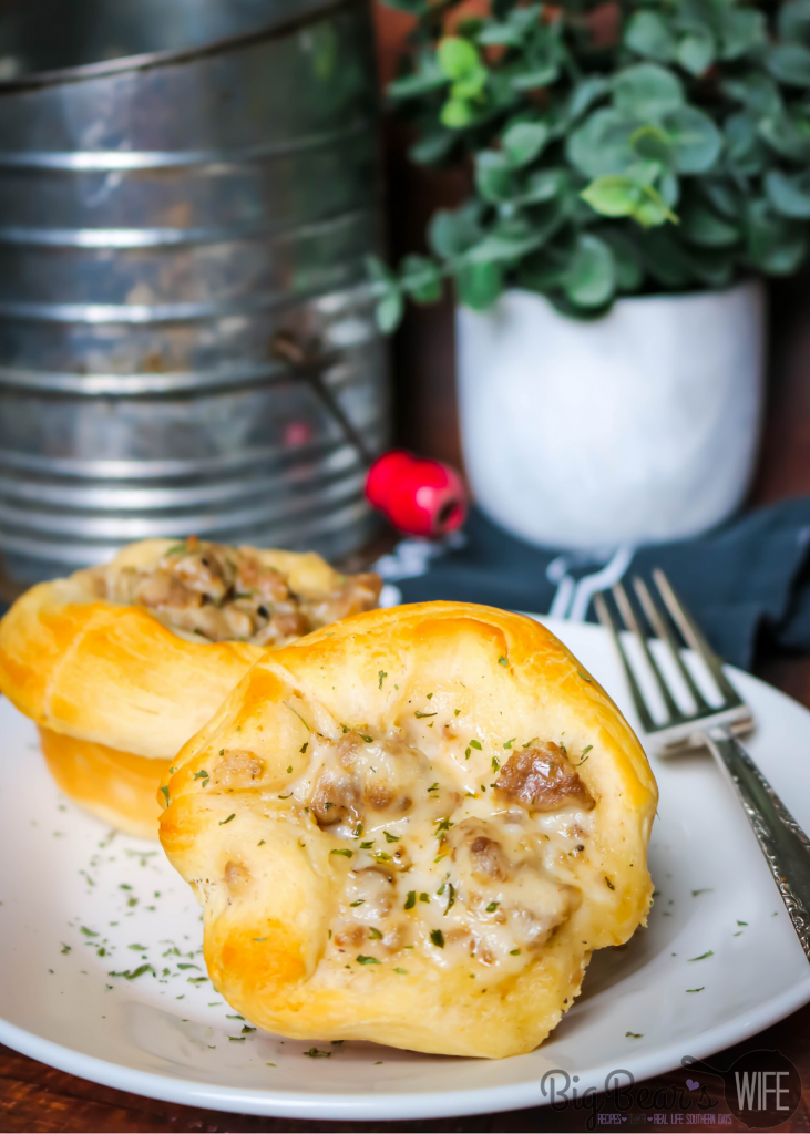 Sausage and Gravy Biscuit Cups