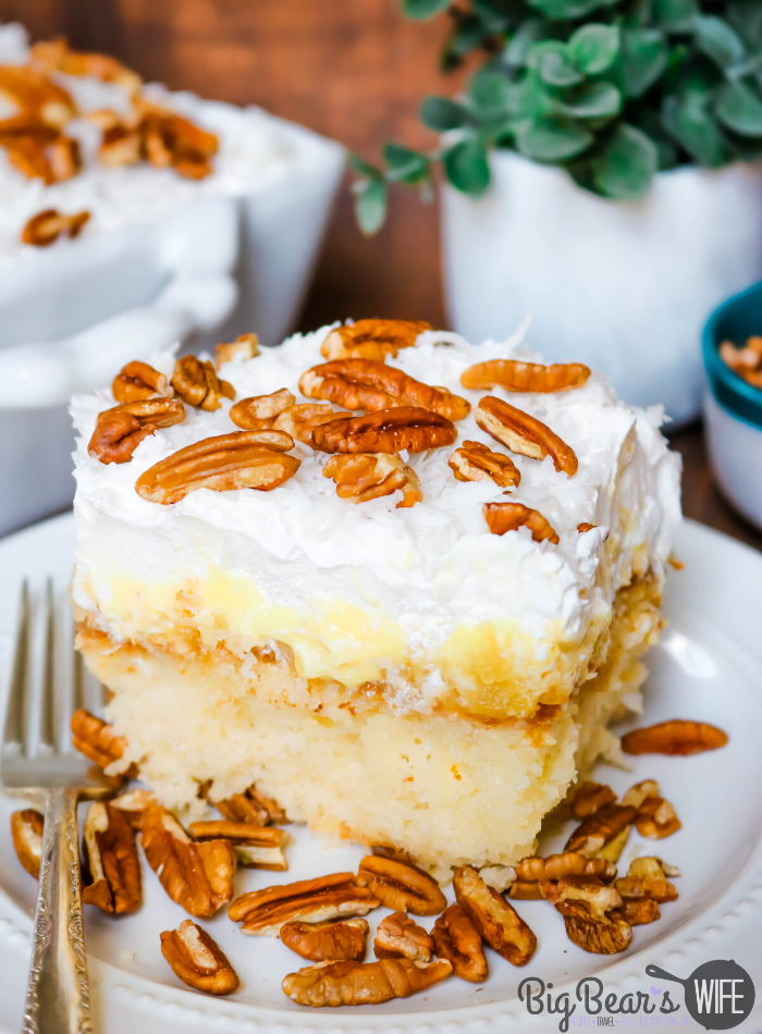 Slice of Southern Pineapple Sunshine Cake