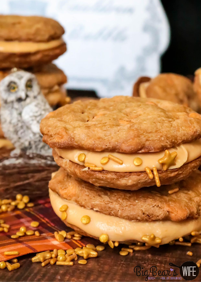 ButterBeer Sandwich Cookies