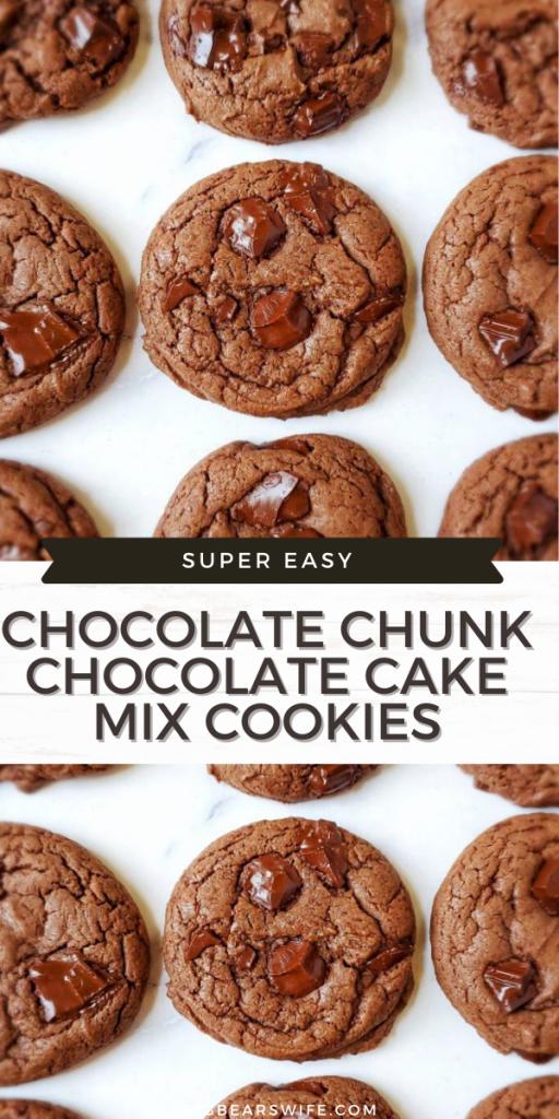 CHOCOLATE CHUNK CHOCOLATE CAKE MIX COOKIES