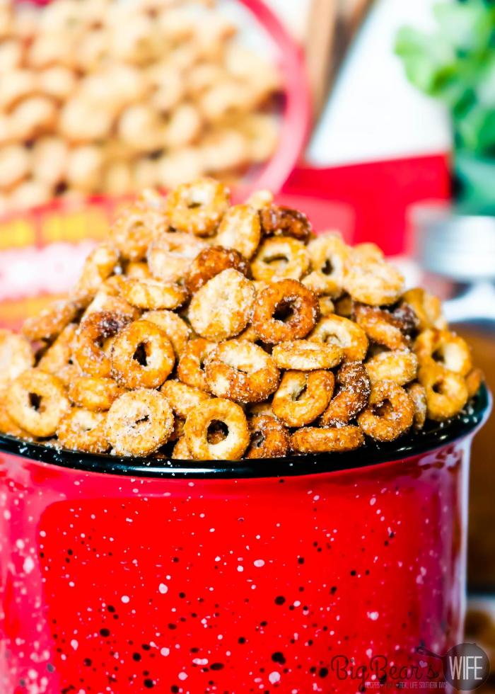 Crockpot Mini Doughnut Toasted Cheerios