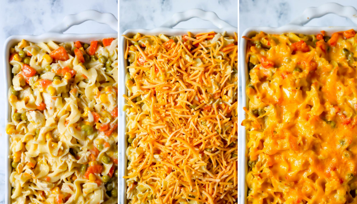 steps of EASY CHICKEN NOODLE CASSEROLE