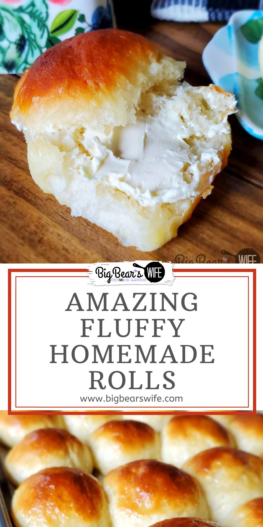 These Fluffy Homemade Rolls  aka – Refrigerator Rolls are so easy to make and go perfectly with homemade Cinnamon Butter. This vintage recipe was one of my grandmother's recipes and we love it.    via @bigbearswife