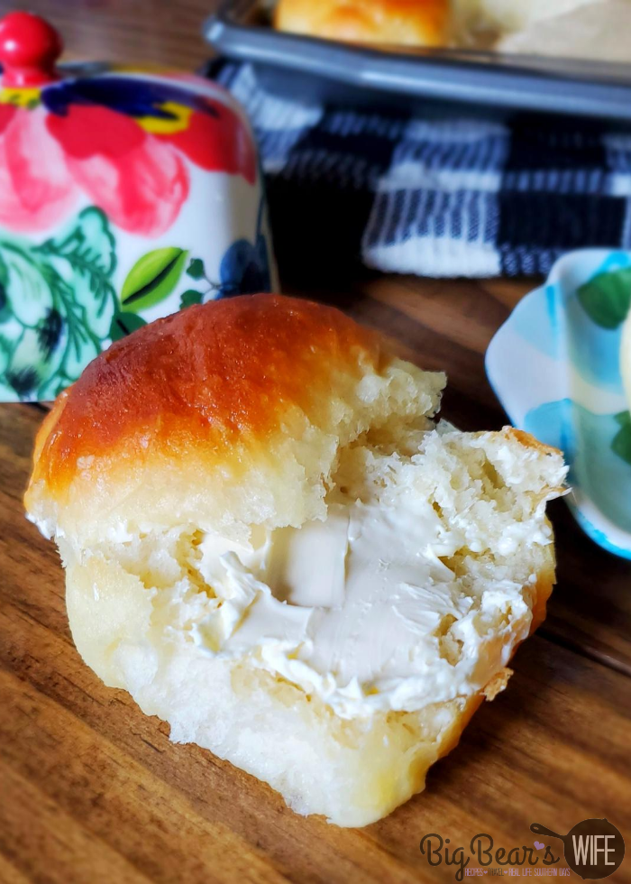 Fluffy Homemade Roll with butter