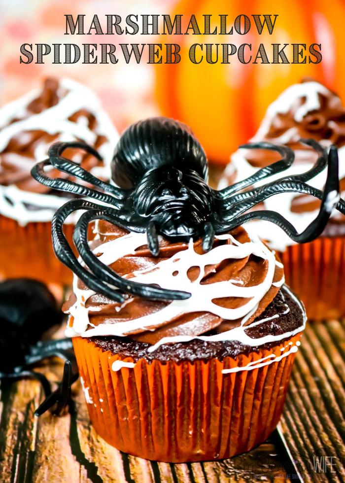 Marshmallow Spider Web Cupcake