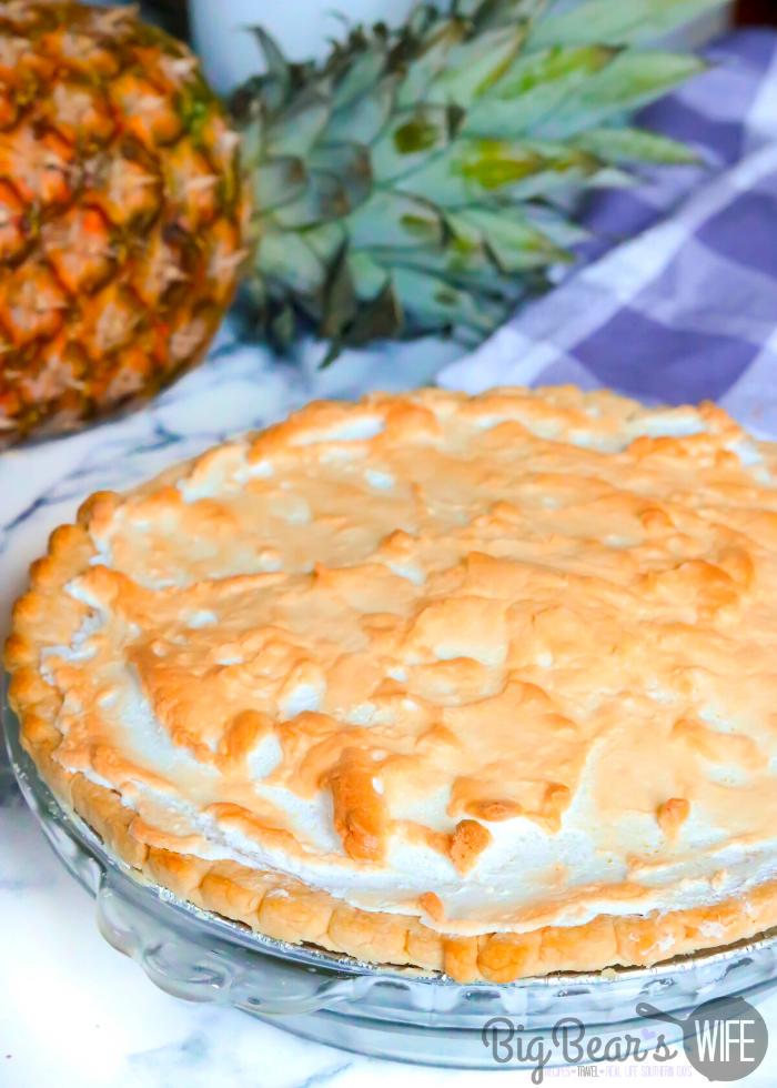 Meringue on Southern Pineapple Pie
