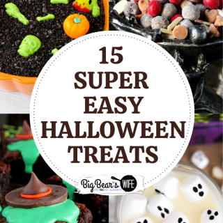 15 SUPER EASY HALLOWEEN TREATS - If you want to make some great Halloween desserts and Halloween treats without spending a ton of time in the kitchen you'll want this list of 15 Super Easy Halloween Treats recipes! No bake eclairs, apple slices, sheet cakes and more are easily transformed into Halloween desserts without any fuss or witchy magic!