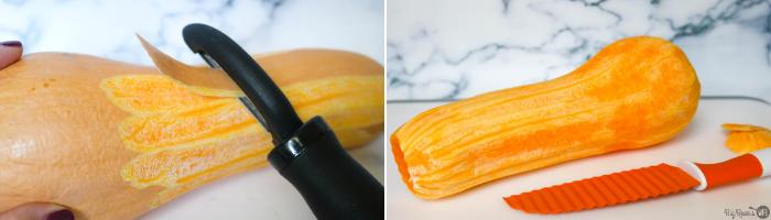 cutting a Butternut Squash Frie