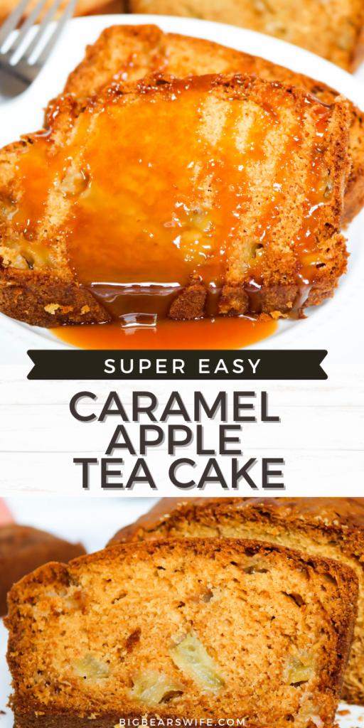 Caramel Apple Tea Cake is a wonderful and easycake made with caramel tea steeped milk, apples and vanilla.