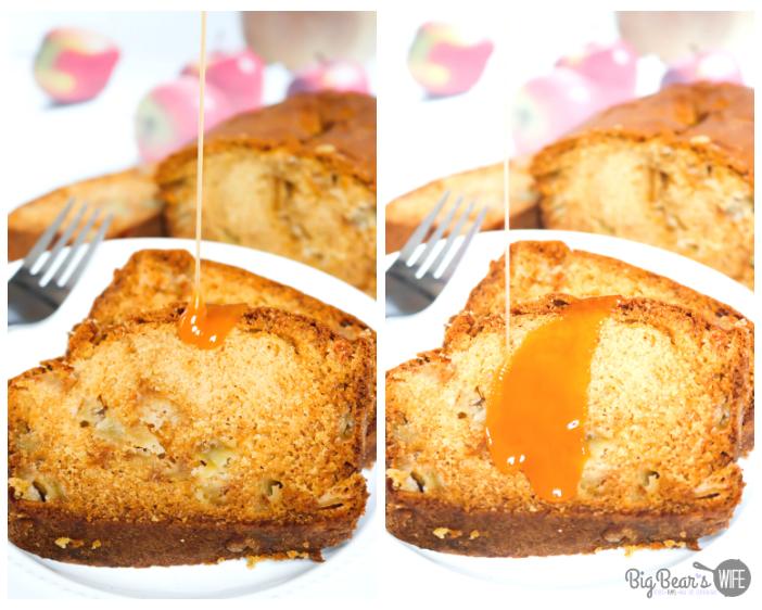 Apple cake with caramel