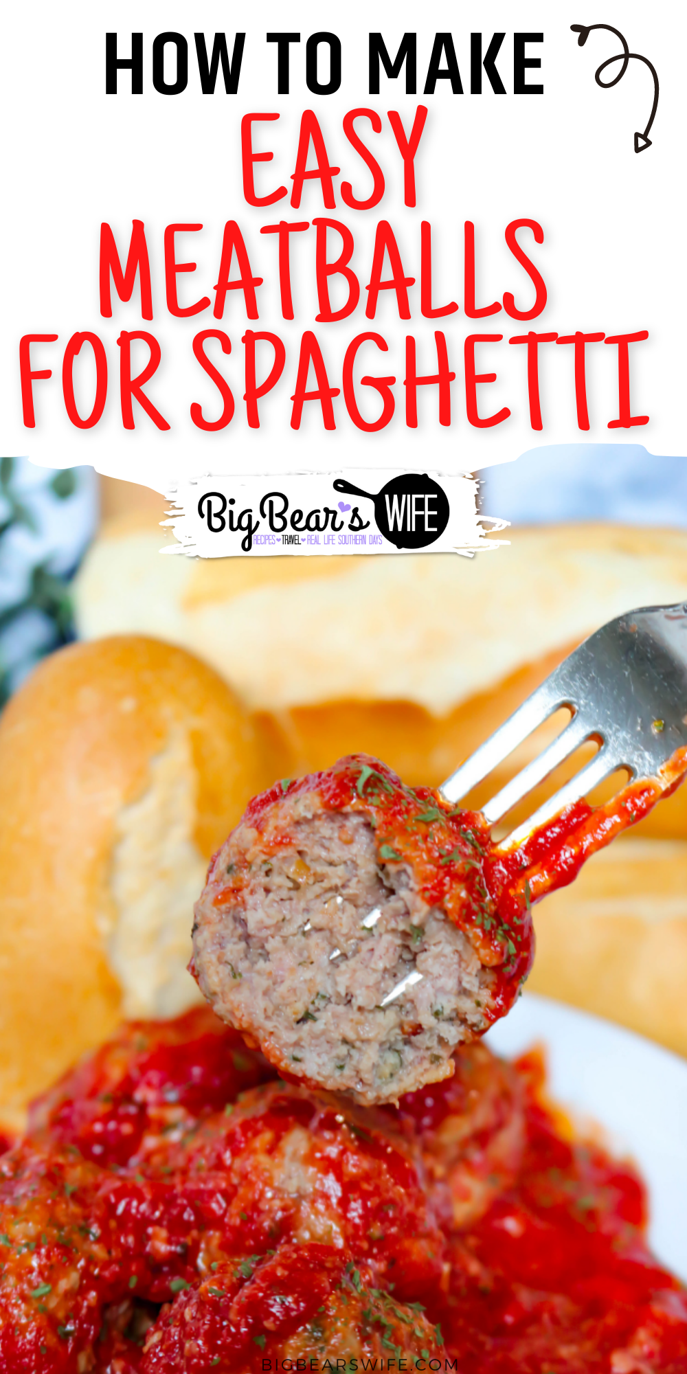 This recipe is just great for Easy Meatballs  for Spaghetti via @bigbearswife