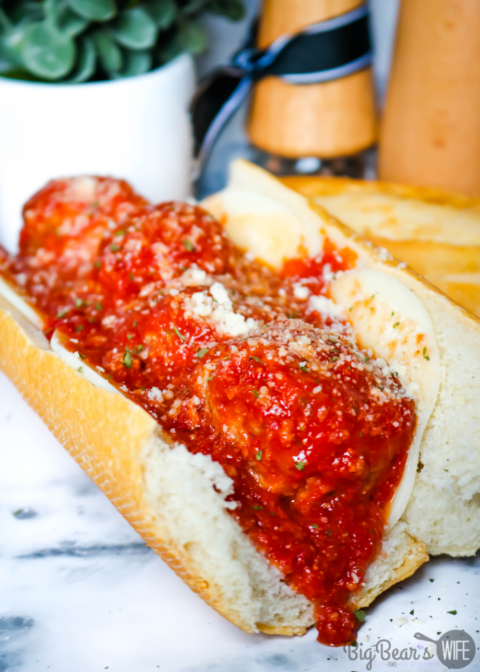 If you love Meatball Subs you're going to want this recipe for homemade meatballs for these Homemade Meatball Subs! These subs are delicious!