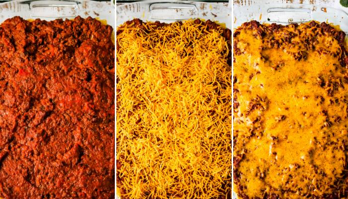 layers of Million Dollar Spaghetti