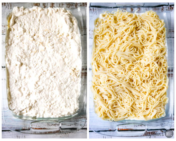 pasta and cottage cheese for Million Dollar Spaghetti