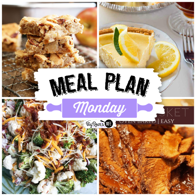 Welcome back, friends! We're sure proud to see you and we're serving up quite the spread in this week's Meal Plan Monday.