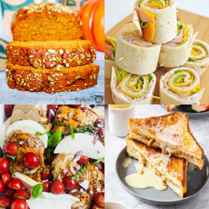 Welcome to Meal Plan Monday 235! This week's featured recipes include, Caprese Chicken with Balsamic Glaze, Hong Kong Style French Toast, Cheese Pinwheels and Copycat Starbucks Pumpkin Bread! Plus tons more recipe from bloggers all over the world!