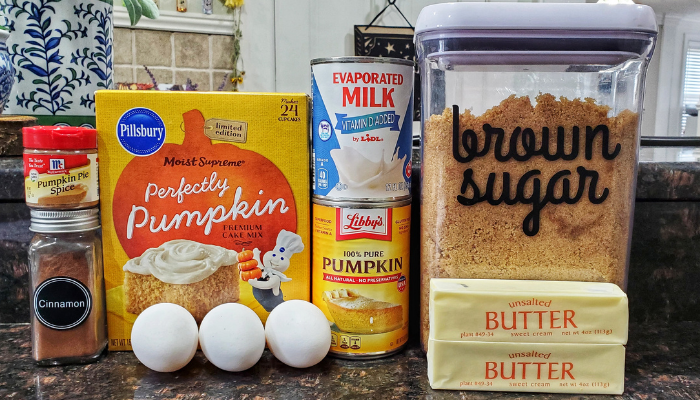 Pumpkin Dump Cake Ingredients