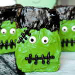 Frosted Frankenstein Brownies #HalloweenTreatsWeek