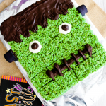 Giant Pull Apart Frankenstein Rice Krispie Treat