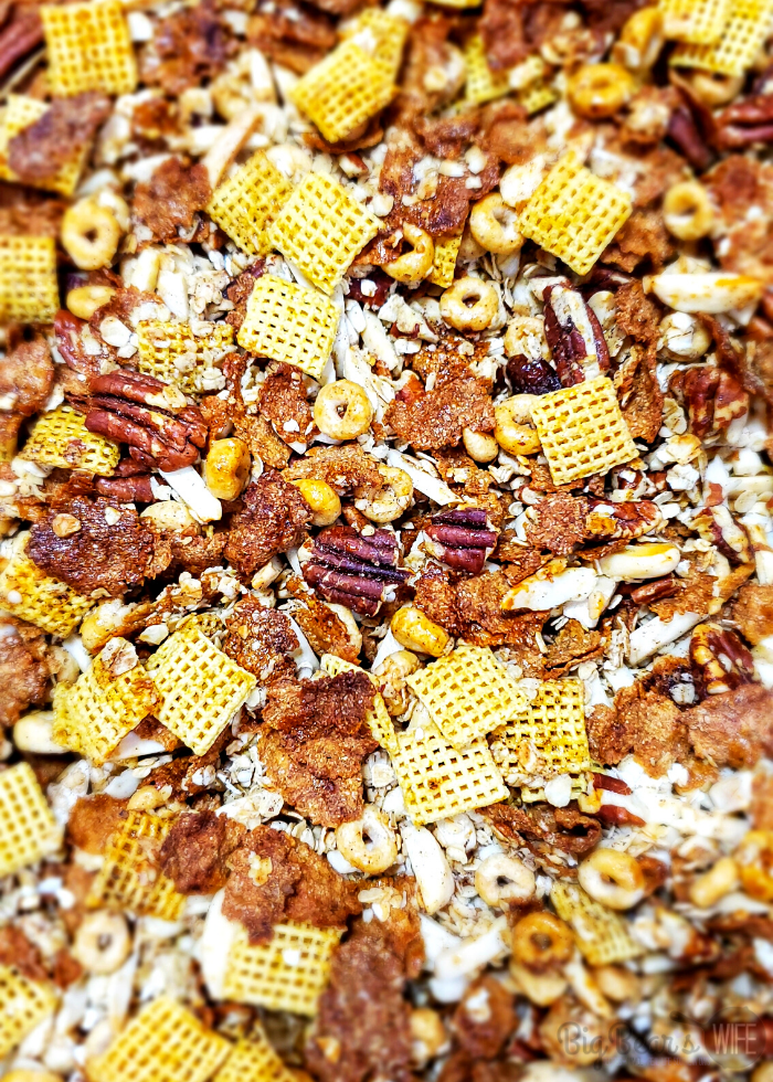 HEALTHY GRANOLA CEREAL on sheet pan