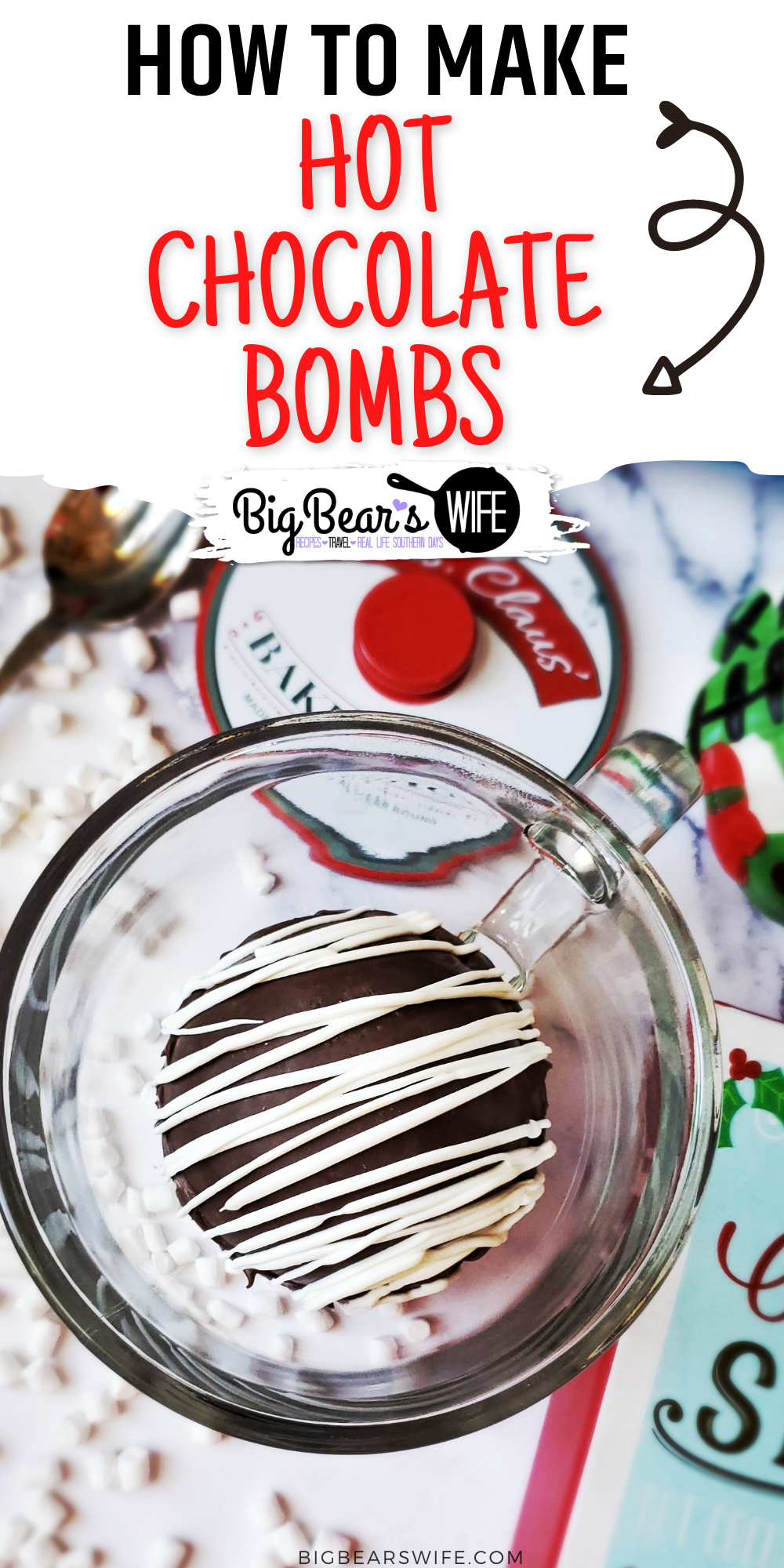 These Hot Chocolate Bombs are like bath bombs for milk! Just pour hot milk over these chocolate bombs that are are filled with hot chocolate mix and marshmallows for the best mug of hot chocolate ever!  via @bigbearswife
