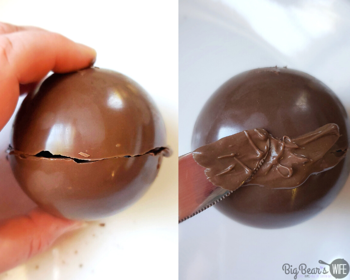 sealing Hot Chocolate Bombs