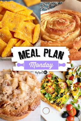 Hey family! Welcome back to another delicious edition of Meal Plan Monday! We're featuring recipes like, Firecracker Cheez-its, Spiral Apple Bread, Sheet Pan Tacos and Apple Spice Muffins!