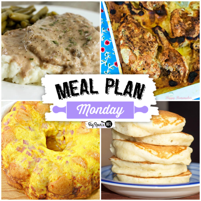 Welcome to this week's Meal Plan Monday!