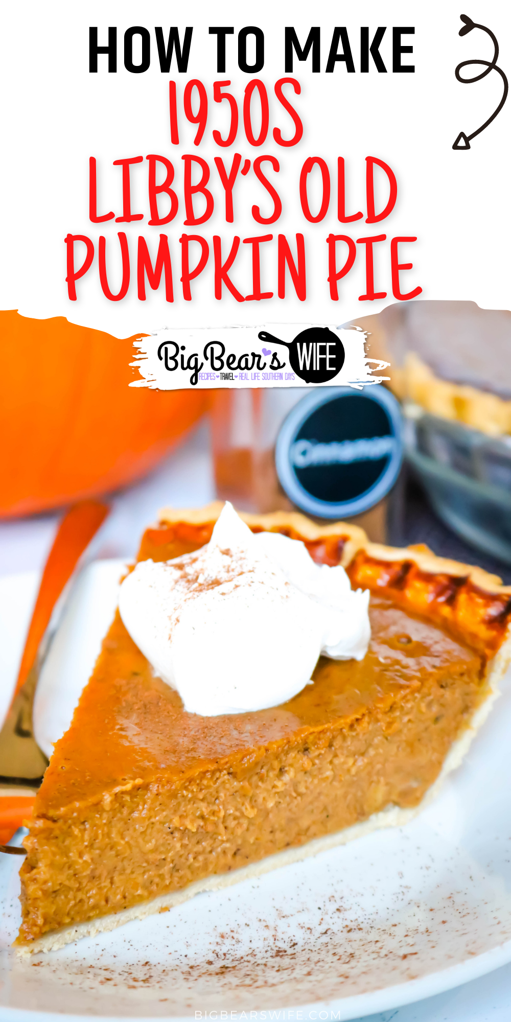 This 1950s Libby's Old Pumpkin Pie is the old fashioned vintage pumpkin pie recipe that was on the back of the can of Libby's Pure Pumpkin from the 1950s until 2019!  via @bigbearswife