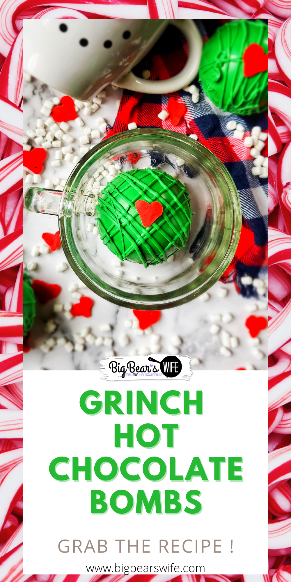 Our favorite Christmas hot cocoa bombs are getting a Grinchy Whoville makeover with these fun Christmas Grinch Hot Chocolate Bombs!! via @bigbearswife